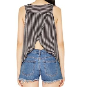 Tops - 🔥Open Back button down Striped Top🔥